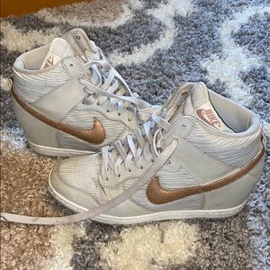 Nike High Top Tan Sneakers